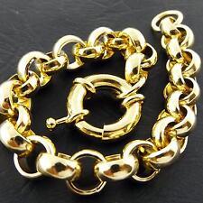 GENUINE REAL 18K YELLOW GOLD G/F SOLID VINTAGE DESIGN BOLTRING BRACELET BANGLE