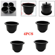 4pcs Boat Interior Black Plastic Cup Drink Can Holder For Boat Marine Universal