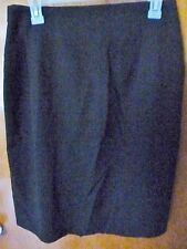 Woman's KGR Short Black Straight Lined Skirt Size 12