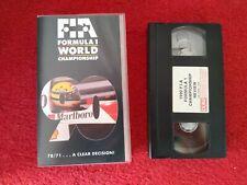 Formula 1 1990 Championship Season Review VHS Video tape 1990. Formula One senna
