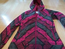 Columbia Girls Thinly Lined Coat, SZ 14-16, Dark Pink/Black/Gray Print, Exe Cond