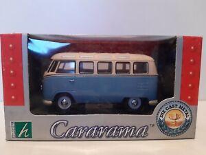 Miniature cararama 1/43  Volkswagen combi bleu