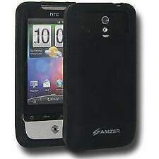 AMZER SILICONE SOFT SKIN JELLY FIT BACK CASE COVER FOR HTC LEGEND - BLACK