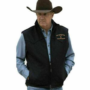 Men Yellowstone John Dutton Kevin Costner Cotton Vest Jacket | Cotton Vest