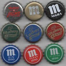 9 different MAHOU kronkorken beer bottle caps chapas tappi
