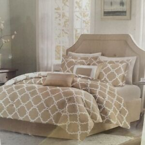 Home Essence by Madisson Park Full/Queen Reversible 5 Piece Tan Comforter Set
