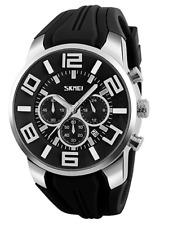Relojes con Cronógrafo Para Hombre Cara Grande Deportivo Impermeable Casual calendario analogu
