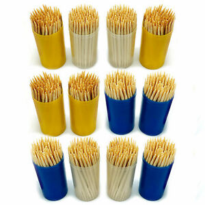 100pc Bamboo Wooden Toothpicks Cocktail Sticks | Disposable Party Food