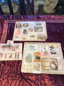 Antique Advertising Trade Card 1800's Victorian Era Advertising Card Lot 1