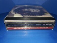 LOT OF 3 JANET JACKSON CD'S - A460 - SELF TITLED VELVET ROPE RHYTHM NATION 1814