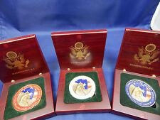 SECRET SERVICE-BILL CLINTON PROTECTIVE DETAIL COINS-3 BOX SET RED-WHITE-BLUE