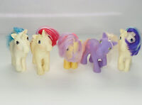 Lot of 5 Vintage My Little Pony Dolls 1980's Horses 80's Toys No Tails Read Desc