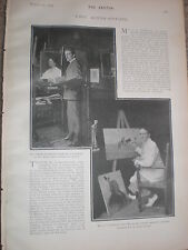Photo article painter s actors Forbers-Robertson and G P Huntley 1903 ref W2