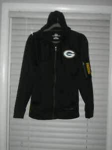 Green Bay Packers Lined/Hooded Jacket, Black, Small, NWOT