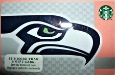 Starbucks 2013 Seattle Seahawks Gift Card Never Used or Loaded Free Ship!