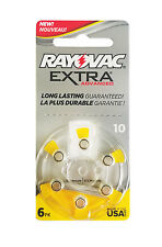 80 Rayovac Hearing Aid Batteries Size: 10 (10 Dial Cards of 8)