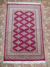 3x4 Apple Red Longing (31 x 47 in) Yamoud-Inspired Hand-Knotted Rug