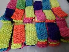 Wholesale 24 pcs Girls Baby Crochet Headband With 1.5 inch Acrylic