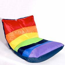 LARGE Poolside Rainbow BEAN BAG Indoor/Outdoor Waterproof Beach Beanbag Home NEW