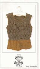 K1C2 Knit One Crochet Too KNITTING PATTERN 1522 Harvest Tank 34-51 PATTERN ONLY