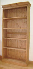 PINE BOOKCASE 6' WITH ADJUSTABLE SHELVES.     HAND MADE