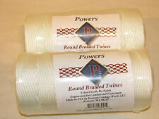 2 -#36 Round Braid Nylon Twine Rope,540 FT Each 360 LBS Tensile, Net Repair, USA
