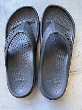 Black Baya Flip Crocs Size M7 W9