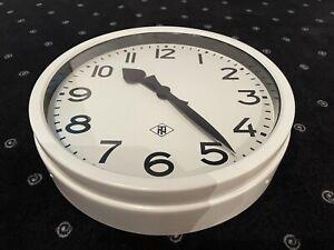 Alte TN Bahnhofsuhr, Nebenuhr, Fabrikuhr, Schuluhr, Industrieuhr, Feuchtraum Uhr