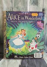 Disney Alice in Wonderland Meets White Rabbit Little Golden Book