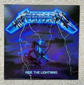 Metallica Signed Autographed Ride The Lightning Album Flat Cliff Burton Beckett