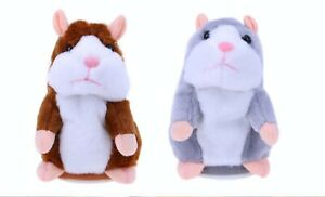 TALKING TOY ELECTRONIC HAMSTER REPEAT Talking BROWN OR GREY Plush Toy  Speaking