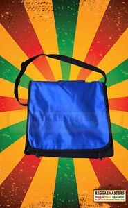 "VINYL RECORD CARRY BAG WITH STRAP - BLUE -LP/12"" DURABLE WIPE CLEAN GOOD QUALITY"