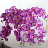 Artificial Butterfly Orchid Silk Flower Fake Bouquet Phalaenopsis Party Decor