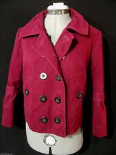 MIXIT Denim Peacoat Jacket juniors M Wine Red double breasted Winter jacket Boho