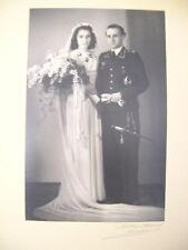 Altes Hochzeitsfoto Luftwaffe mit Abzeichen Wehrmacht WK2 - München 1944 (3)