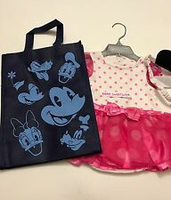 Disney Store Minnie Mouse Baby Party pink tutu Dress & Hat with Ears 6-9 months