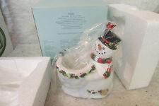Nib Partylite P9890 Snowman Christmas Holiday Snowbell Votive Holder