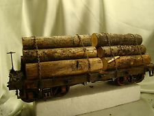 5   G-Scale Logging Car - custom handcrafted, weathered - realistic look - lot p