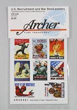 Archer 1/35 US Recruitment & War Bond Posters WWII (17 Posters) [Print] AR35401