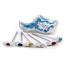 Clog Delft-Style Blue Party Pic Set - Dutch Cheese Picks by Boska