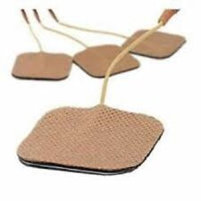12 Replacement Pads for Massagers / Tens Units electrode pads 2x2Inch Tan Cloth