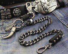 Vintage Mens Heavey Metal Trucker Biker Keychain Key Jean Wallet Chain #