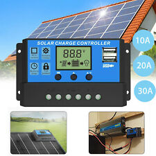 US 10A-30A MPPT Solar Panel Regulator Charge Controller Auto Tracking  12V/24V