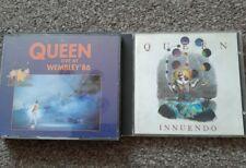 QUEEN LIVE AT WEMBLEY '86 CD BOX SET + INNUENDO BUNDLE LOT