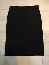 Mela Purdie Black Jersey Tube Skirt Size 10