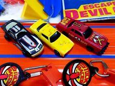 VINTAGE KIDCO BURNIN KEY CARS Escape Devil County Track Set w 3 CARS +Launch Key