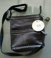 The Sak Pax Swing Leather convertible X-body bag black onyx NWT