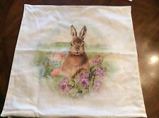 NWOT Pottery Barn Meadow Bunny Pillow 20 x 20, Rare Sold Out in Stores