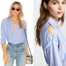 ec5aacb85e4 NWT Rails Josephine Button Up Bluebonnet   White Stripe Shirt Light Weight