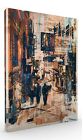 Wall Art, Abstract Cityscape III Stretched Canvas ready to hang